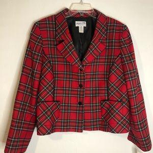 Vintage Pendleton Plaid 100% Virgin Wool Blazer